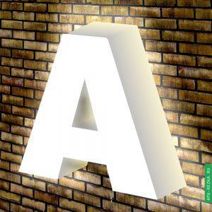 Белые световые буквы на заказ
