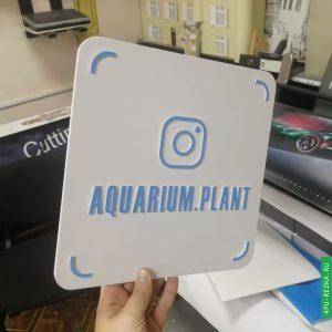 Визитка instagram из ПВХ