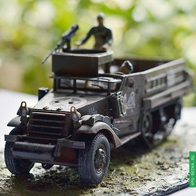 Военный автомобиль макет