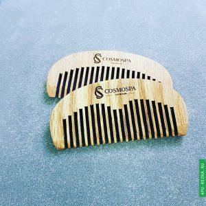 Гребень с логотипом деревянный для волос