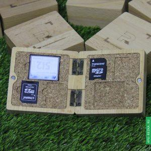 Подарочная коробка для флешки (деревянная)