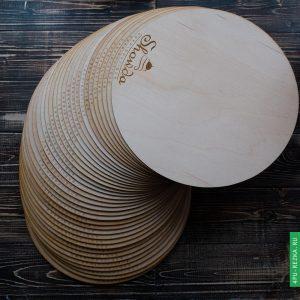 Подложка для торта деревянная с логотипом на заказ